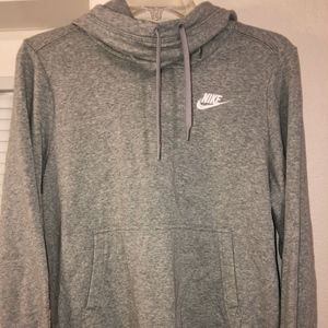 Womens Nike cowl/funnel neck long sleeve hoodie